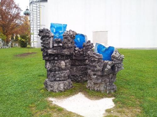 "Skulptur im ""Gläsernen Garten"""
