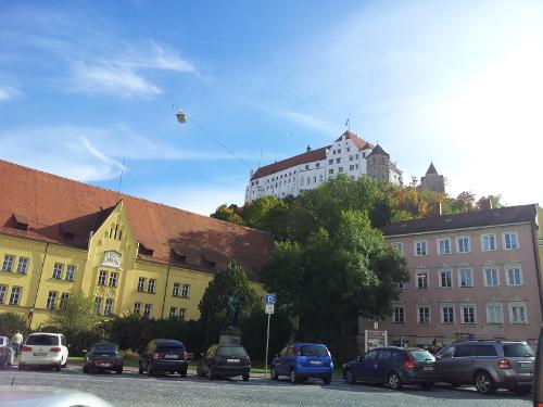 Blick auf Burg Trausnitz