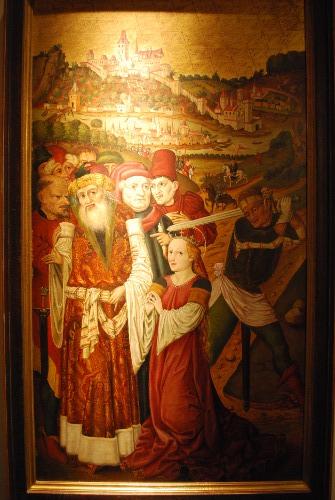 Enthauptung der Heiligen Katharina mit der ältesten Stadtansicht von Passau