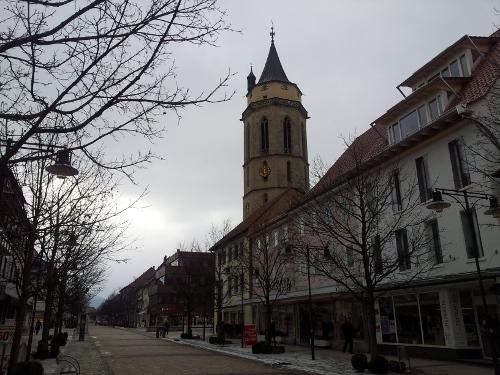 Friedrichstraße und Turm der Stadtkirche
