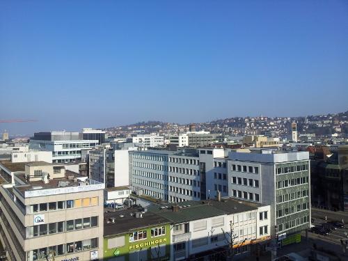 Sonne über Stuttgart