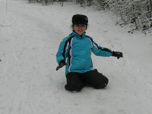 Rutschpartie im Schnee