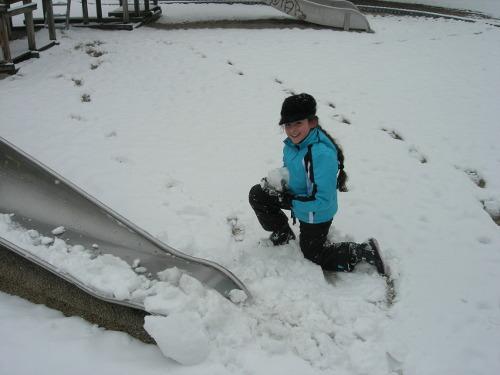 Rutsche im Schnee